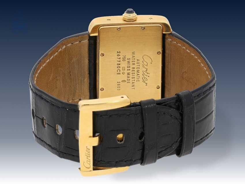 Armbanduhr: hochwertige automatische Herrenuhr, Cartier Tank Divan XL, Ref:2603, 18K Gold, ca.2005 - photo 2