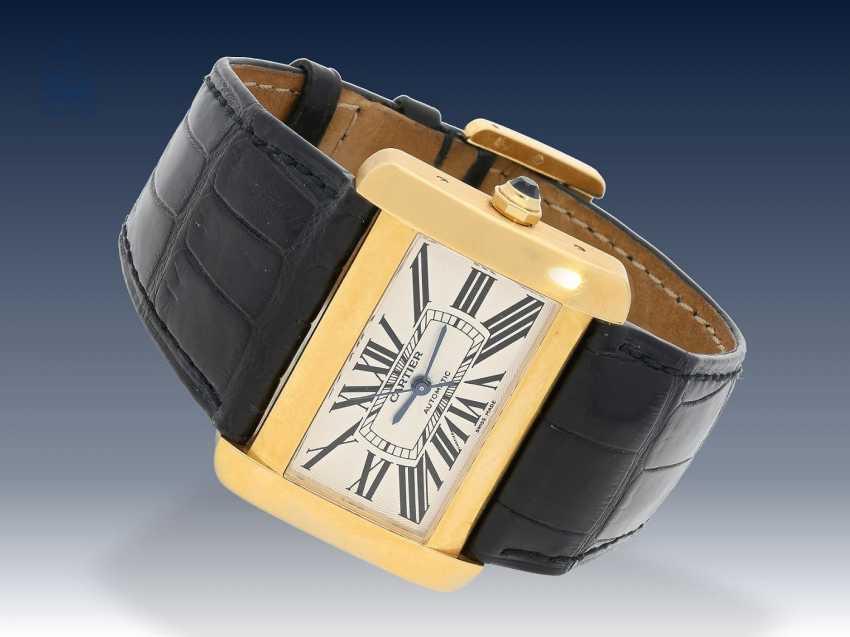 Armbanduhr: hochwertige automatische Herrenuhr, Cartier Tank Divan XL, Ref:2603, 18K Gold, ca.2005 - photo 3