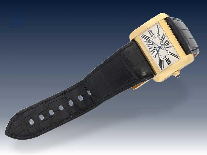Armbanduhr: hochwertige automatische Herrenuhr, Cartier Tank Divan XL, Ref:2603, 18K Gold, ca.2005 - photo 4