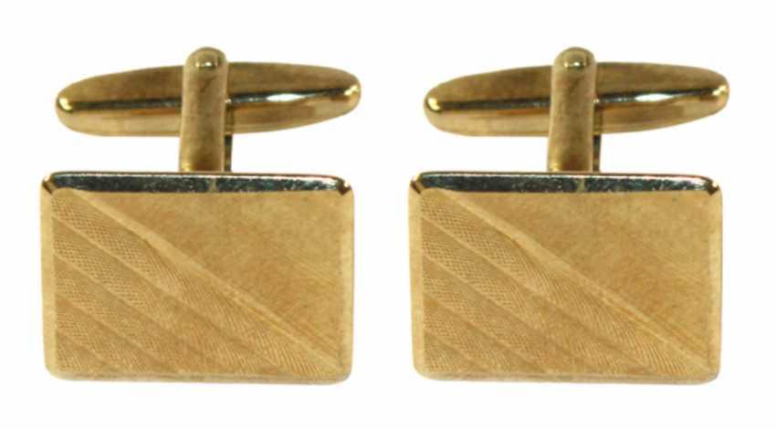 Cufflinks 585 yellow gold - photo 1