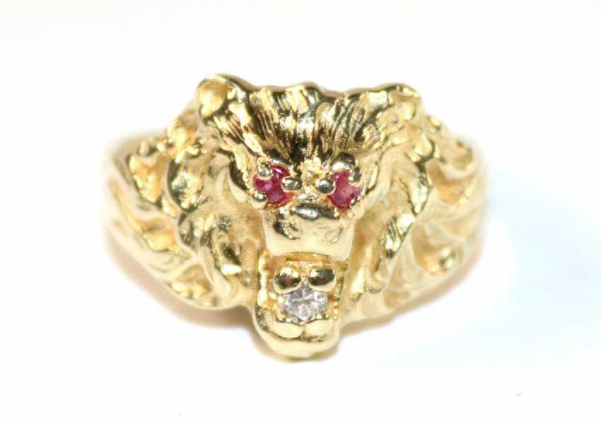 Lion head ring - photo 1