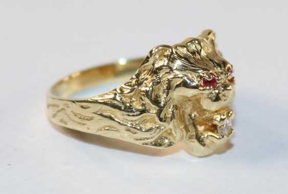 Lion head ring - photo 2