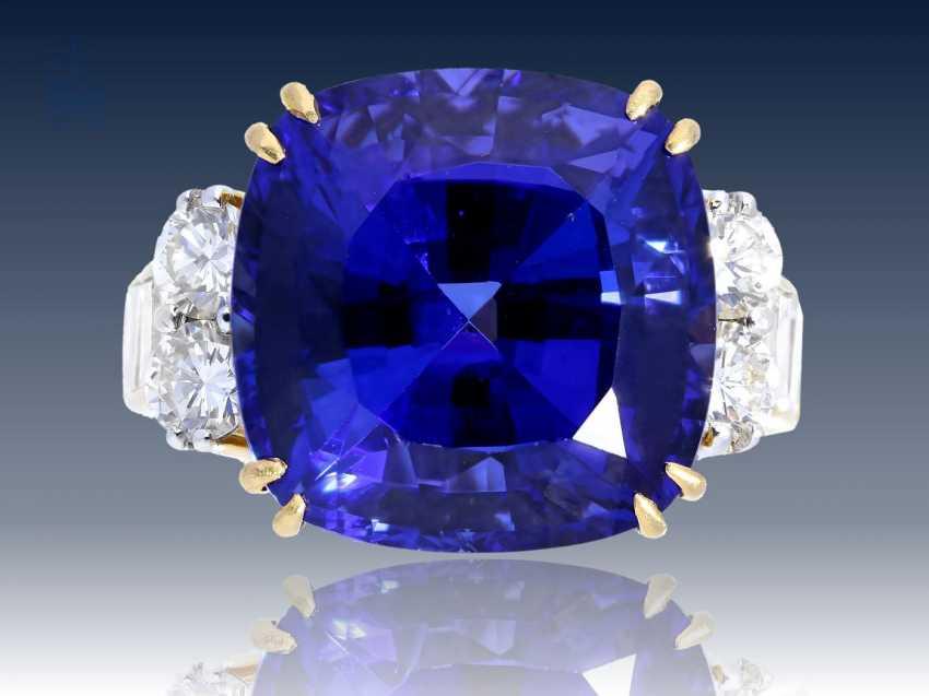 Ring: Tansanit/Brillantring der Spitzenklasse, geschätzter NP ca. 25.000€ - photo 1