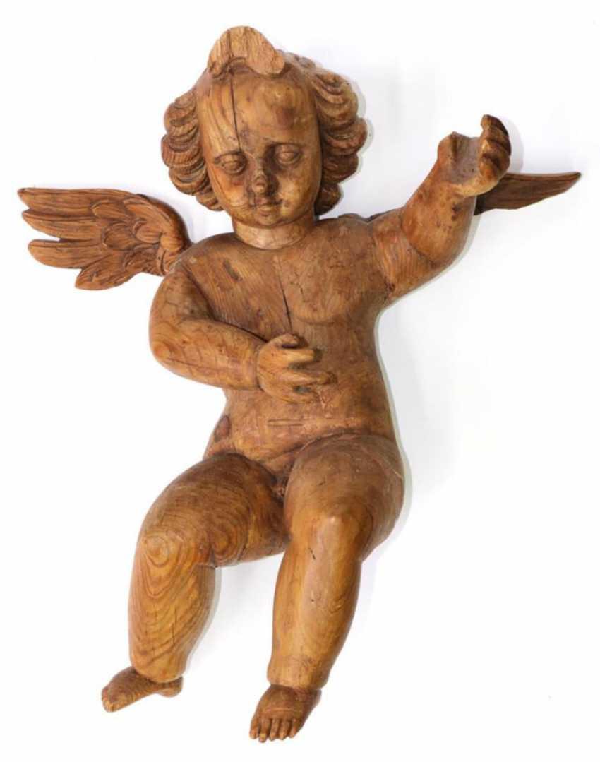 Engel, Cherub Holzschnitzfigur. - photo 1