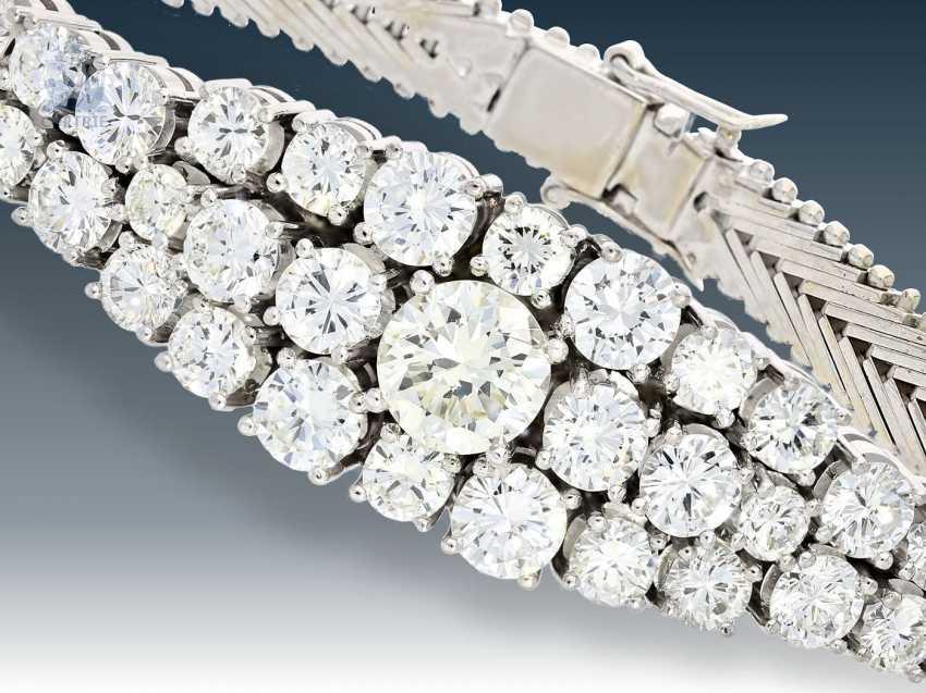 Armband: außergewöhnliches, ehemals sehr teures Brillant-Armband, 18K Weißgold, ca. 5,5ct - photo 1