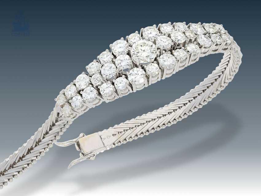Armband: außergewöhnliches, ehemals sehr teures Brillant-Armband, 18K Weißgold, ca. 5,5ct - photo 2