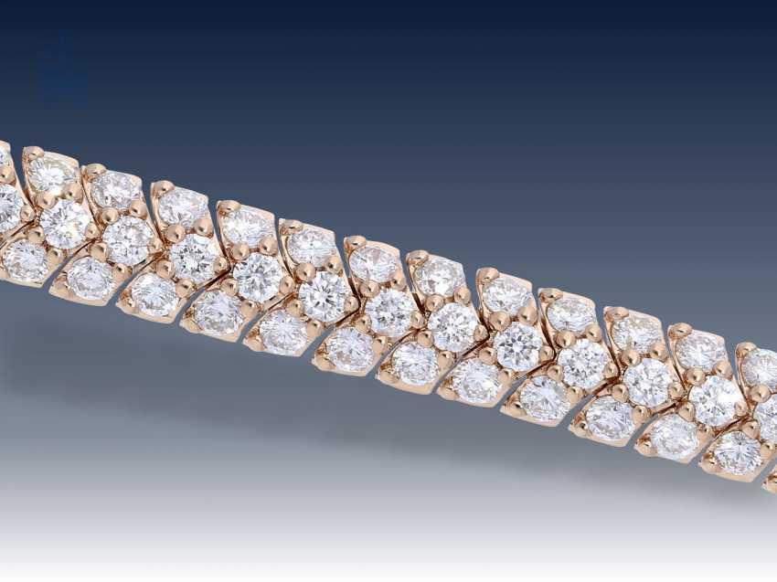 Armband: modernes und sehr elegantes Brillant-Schlangenarmband aus 18K Rotgold, 4,53ct, luxuriöser Markenschmuck Frank Trautz Pforzheim, NP. 16900,-€ - photo 1