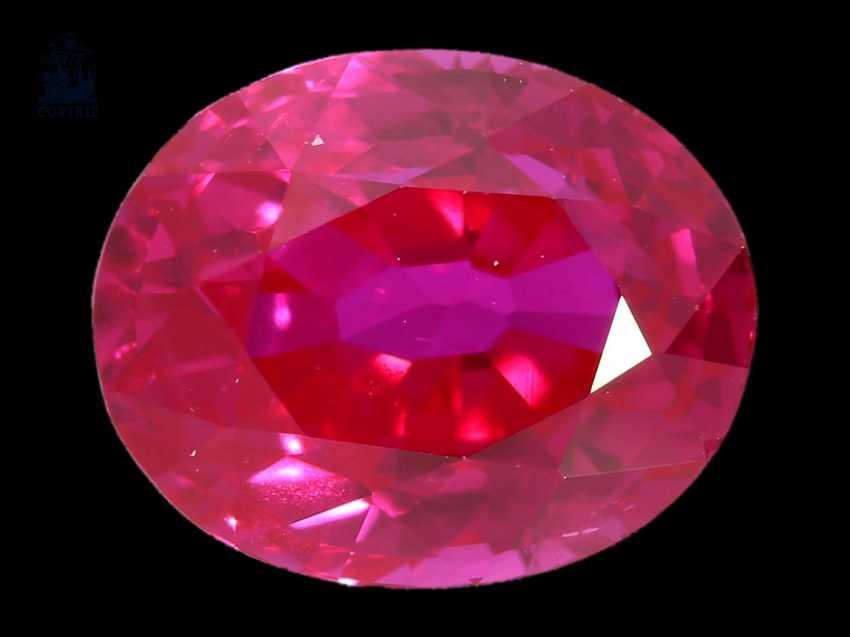 Rubin: natürlicher Rubin von 2,38ct, gekauft in Sri Lanka (Ceylon) 1996, mit gemm. Gutachten, demnach eine Ausnahmequalität! - photo 1