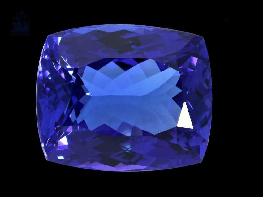 Steine: äußerst wertvoller Tansanit in Spitzenqualität, 22ct - photo 1