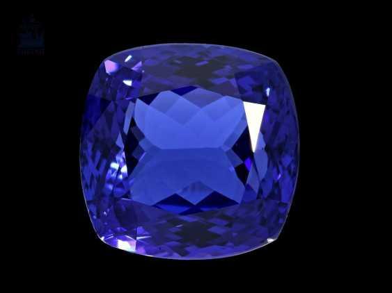 Steine: äußerst wertvoller Tansanit in Spitzenqualität, 24,5ct - photo 1