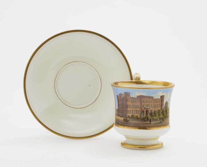View Cup WITH saucer Nymphenburg, 2. Third 19. Century - photo 1