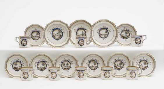 EIGHT mocha cups WITH SAUCERS AND THREE BOWLS Nymphenburg after a model by Dominikus Auliczek - photo 1