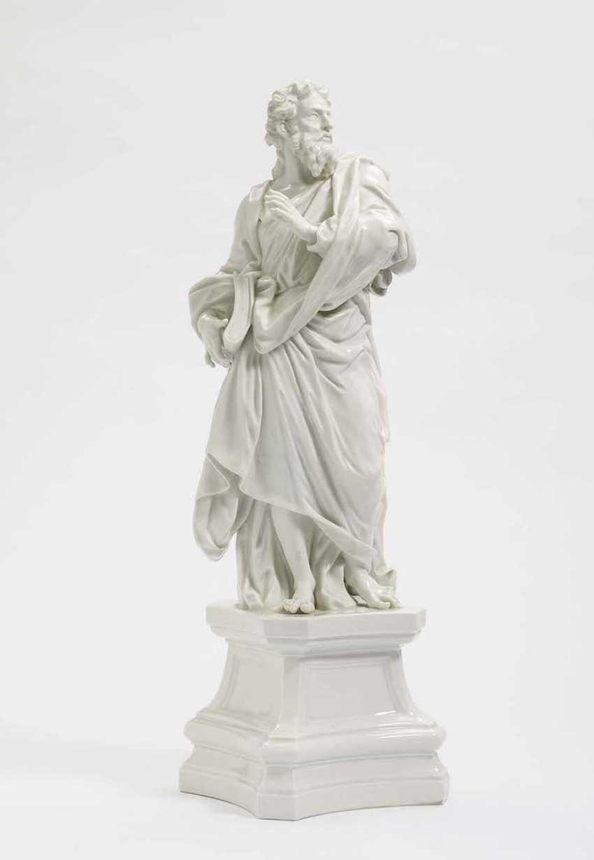 "APOSTLES, ""JACOBUS MINOR"" Meissen, after a model by J. J. Kändler - photo 1"