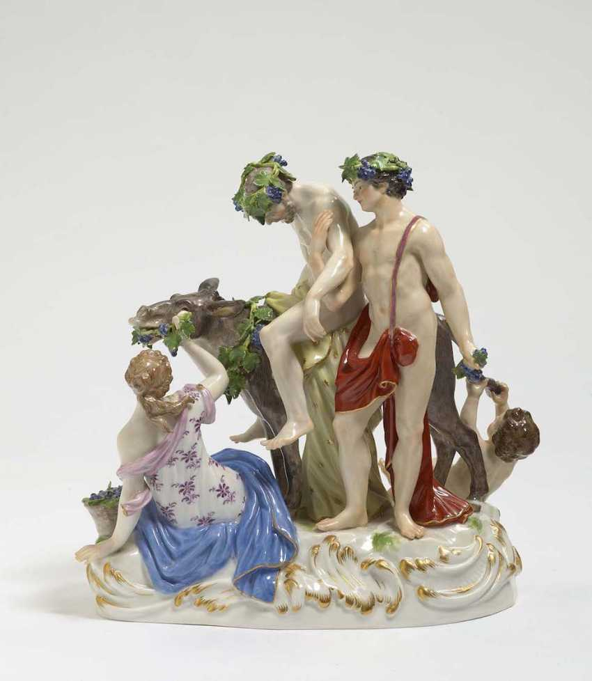 THE DRUNKEN SILENUS Meissen, model by Ernst August, people, Ritz - photo 1
