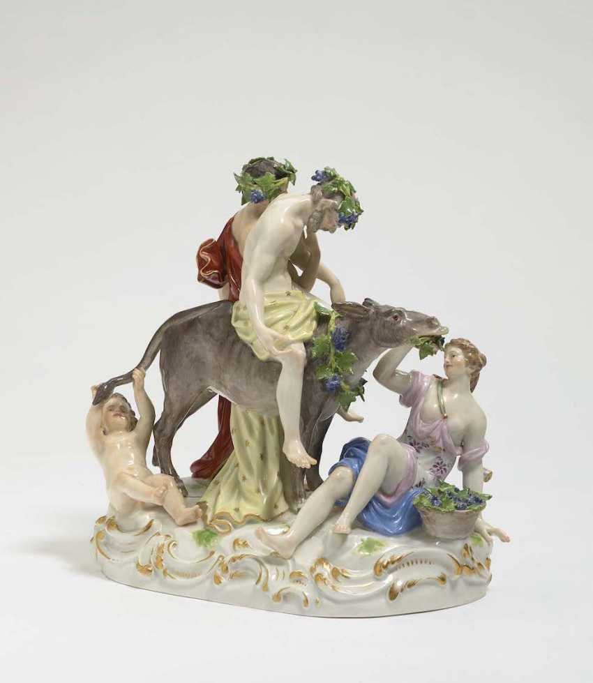 THE DRUNKEN SILENUS Meissen, model by Ernst August, people, Ritz - photo 2