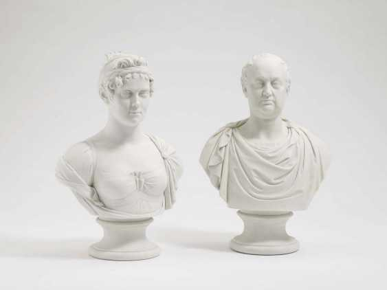 KING MAX I. JOSEPH, AND QUEEN KAROLINE OF BAVARIA, Nymphenburg, 1808/09, after the model by J. P. Melchior, loft, Adam Clair - photo 1