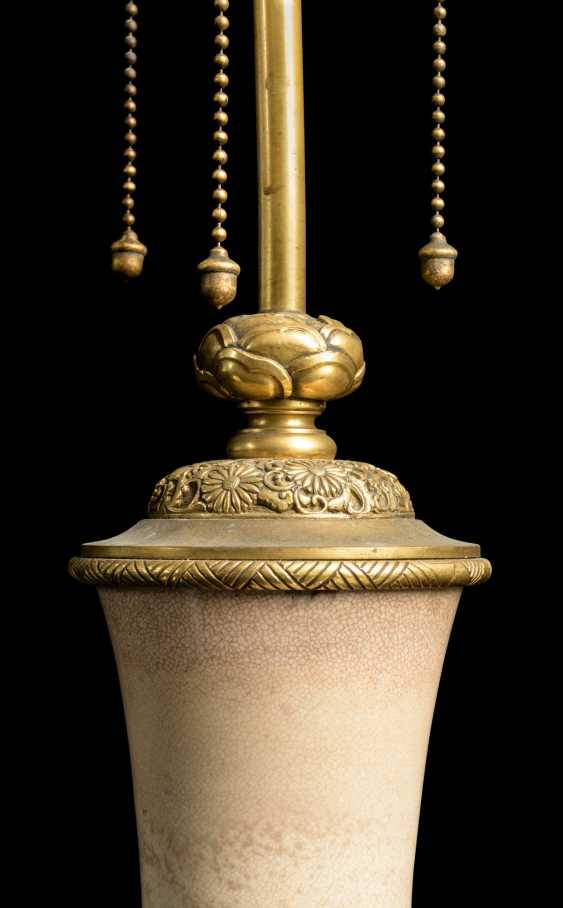 A PAIR OF FRENCH 'JAPONISME' ORMOLU-MOUNTED CERAMIC VASES, MOUNTED AS LAMPS - photo 4