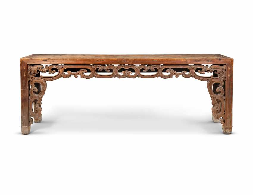 A LARGE CHINESE PINE CONSOLE TABLE - photo 1