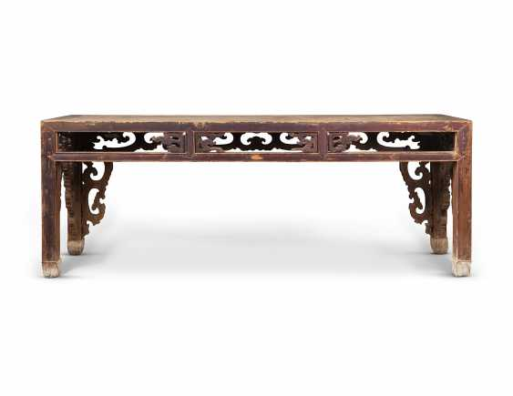 A LARGE CHINESE PINE CONSOLE TABLE - photo 3