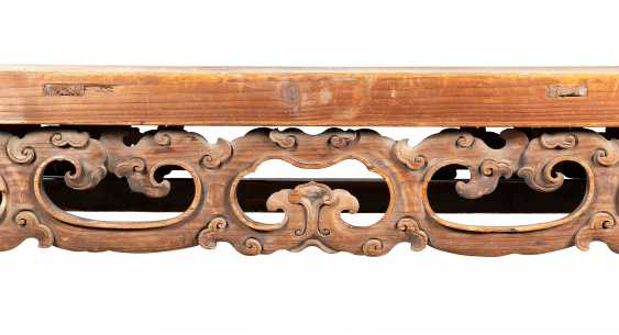 A LARGE CHINESE PINE CONSOLE TABLE - photo 4