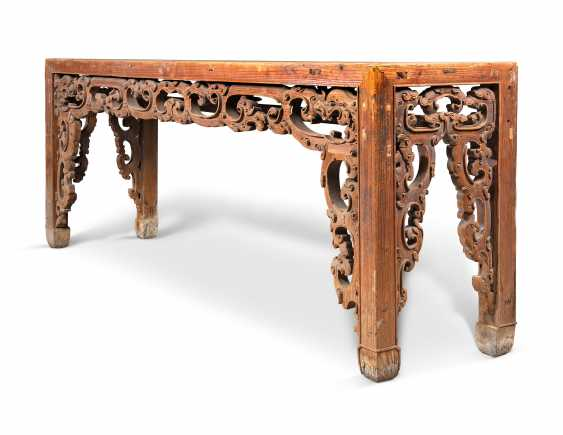 A LARGE CHINESE PINE CONSOLE TABLE - photo 5