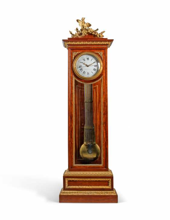 A LOUIS XVI ORMOLU-MOUNTED MAHOGANY LONGCASE CLOCK - photo 1
