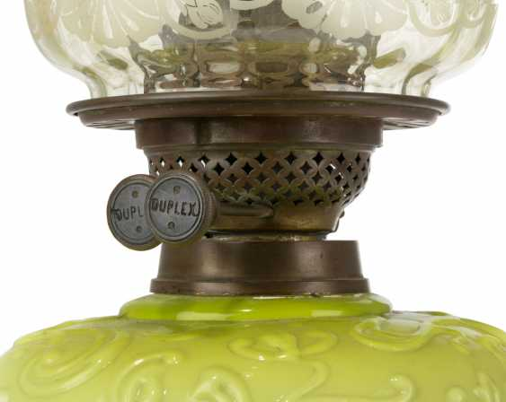 A GROUP OF EIGHT VICTORIAN CLEAR AND FROSTED GLASS OIL LAMPS - photo 10