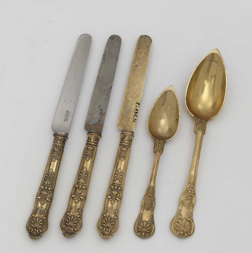 Five pieces of cutlery. Paris, 1819-1838, Françios-Dominique Naudin among others - photo 1