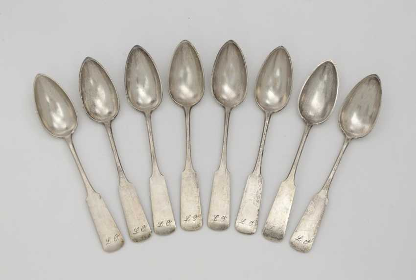 Eight spoons. Minsk, 1873, Radke - photo 1