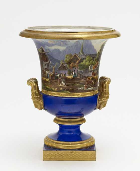 Crater vase. Nymphenburg, around 1830/1840, model by Friedrich von Gärtner - photo 1