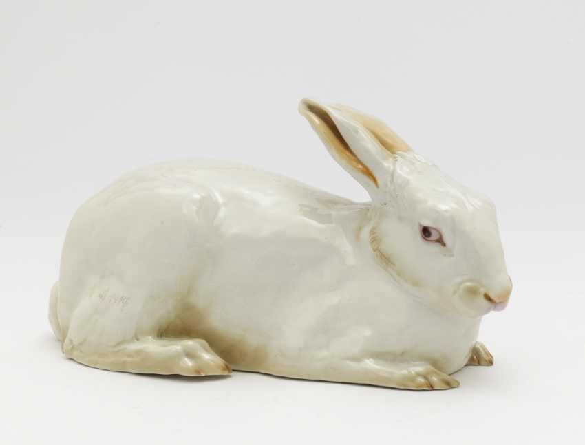 Lying rabbit. Nymphenburg (unique?), Around 1917 - photo 1