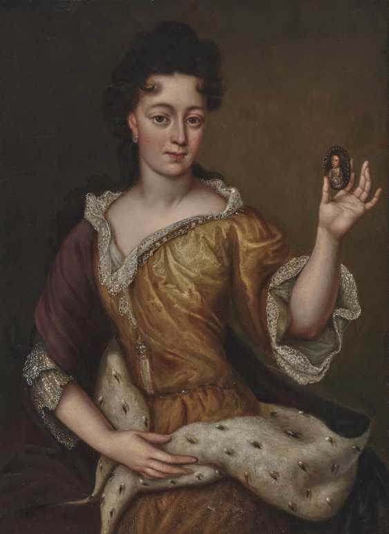 Electress Therese Kunigunde of Bavaria (1676 Krakow - 1730 Venice). . France (Martin Maingaud, worked 1692-1706 for Elector Max Emanuel in Brussels and Munich,?) End of the 17th century - photo 1