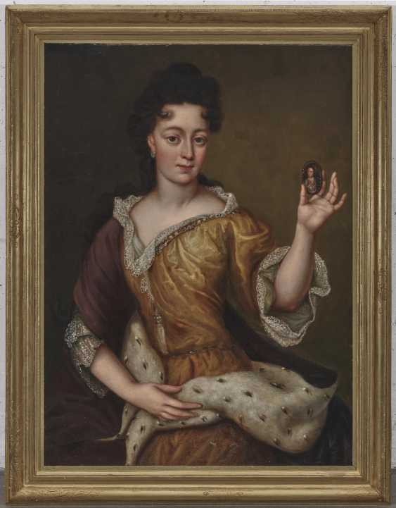 Electress Therese Kunigunde of Bavaria (1676 Krakow - 1730 Venice). . France (Martin Maingaud, worked 1692-1706 for Elector Max Emanuel in Brussels and Munich,?) End of the 17th century - photo 2
