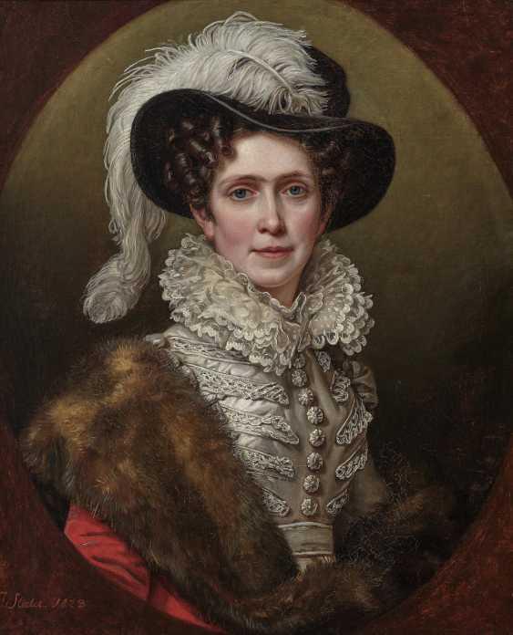 Queen Karoline Friederike of Bavaria. 1823 (1776 Karlsruhe - 1841 Munich). 1781 Mainz - 1858 Munich. Joseph Stieler - photo 1