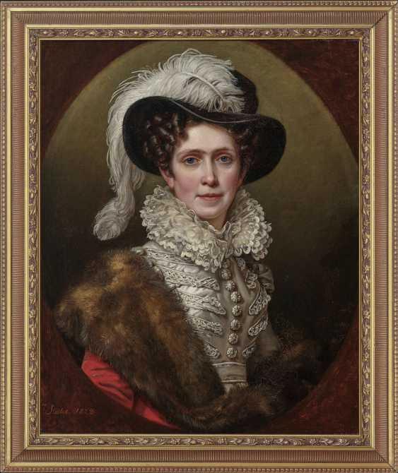 Queen Karoline Friederike of Bavaria. 1823 (1776 Karlsruhe - 1841 Munich). 1781 Mainz - 1858 Munich. Joseph Stieler - photo 2