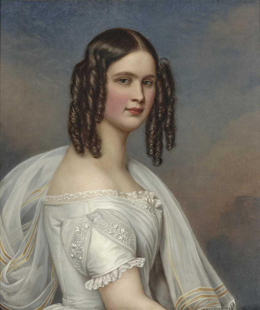 Hildegard Princess of Bavaria. 1844 (1825 Würzburg - 1864 Vienna). 1781 Mainz - 1858 Munich. Joseph Stieler - photo 1