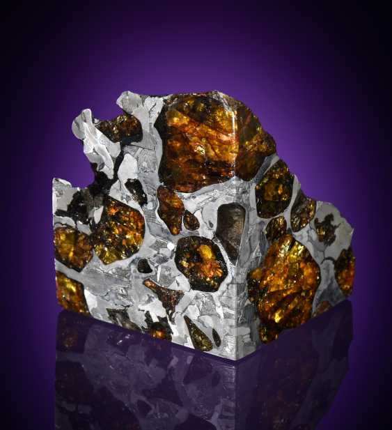 THE MOST BEAUTIFUL EXTRATERRESTRIAL SUBSTANCE KNOWN — END PIECE OF THE FUKANG METEORITE  - photo 1