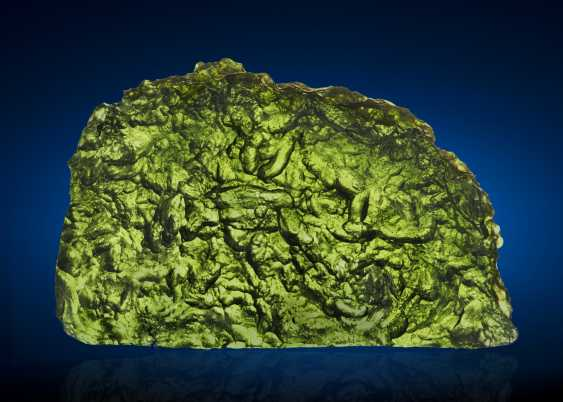 MOLDAVITE — GLASS CREATED WHEN EARTH AND ASTEROID COLLIDE  - photo 1