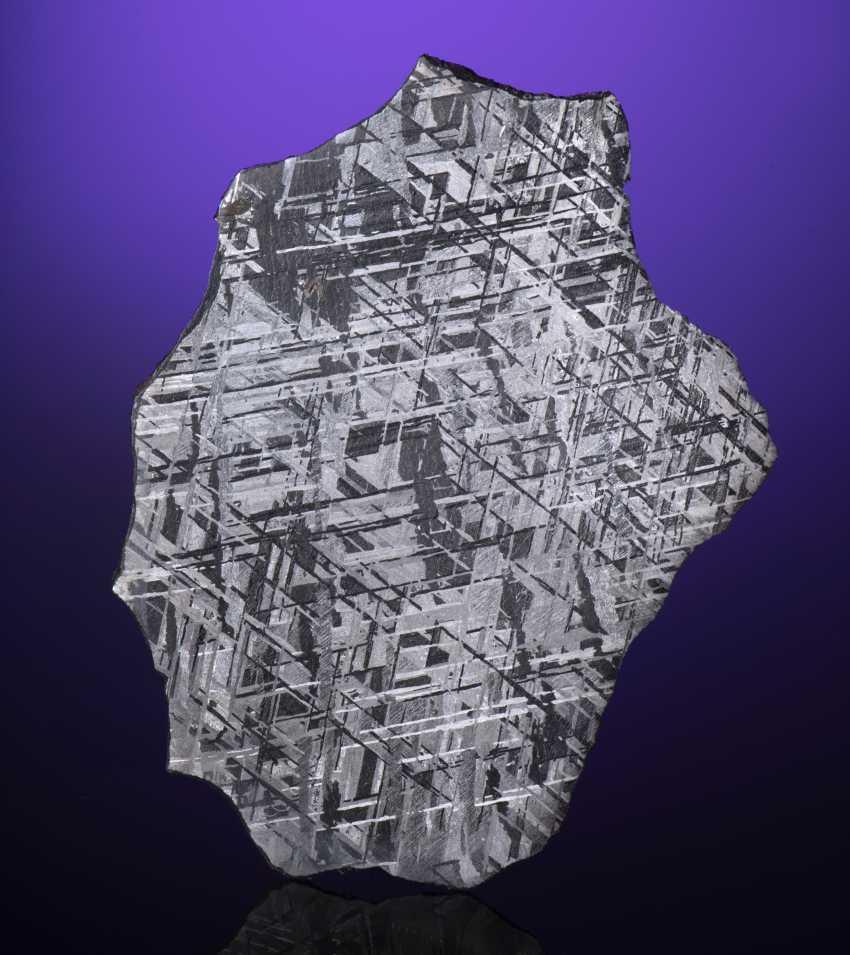 GIBEON IRON METEORITE — COMPLETE SLICE - photo 1
