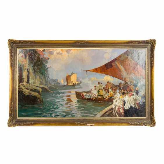 """BALSAMO, SALVATORE (1894-1922) """"Blessing of the Sea in Posillipo"""" - photo 2"""