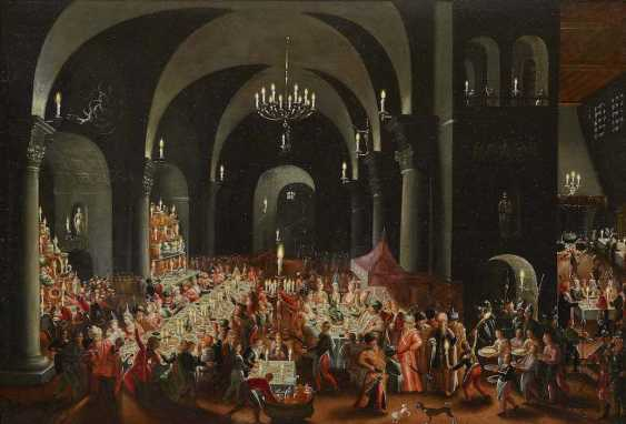 MASTER OF the FEASTING OF BELSHAZZAR active in 1. Quarter of the 17. Century, the type of - photo 1