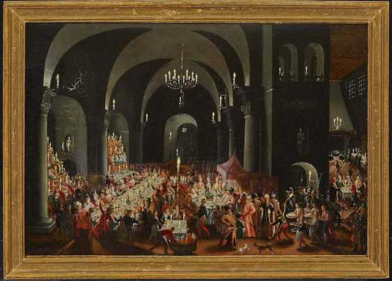 MASTER OF the FEASTING OF BELSHAZZAR active in 1. Quarter of the 17. Century, the type of - photo 2