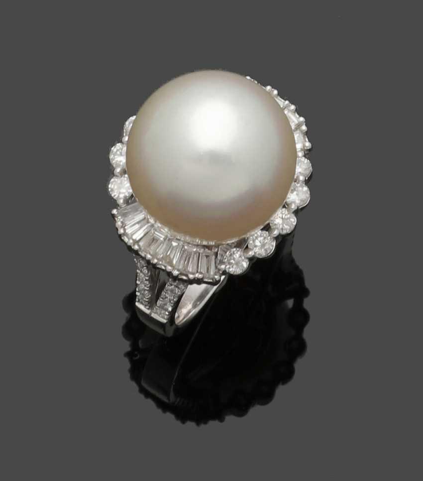High-Fine South Sea Pearl Ring - photo 1