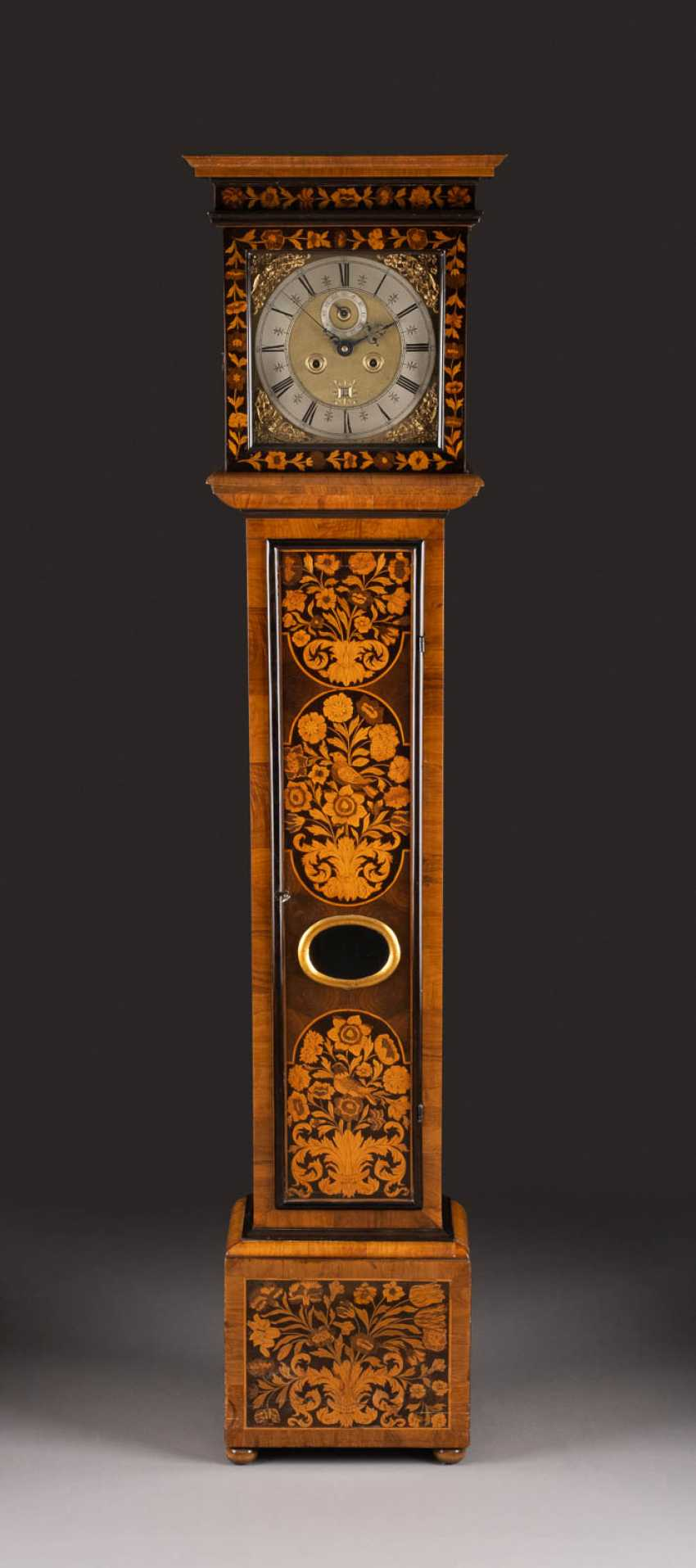 SIGNIFICANT MASTER'S WATCH WITH BIRD AND FLOWER MARQUETERIA - photo 1
