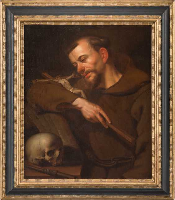 SAINT FRANCIS OF ASSISI WITH A SKULL AND HOLY SCRIPTURE, HOLDING A CRUCIFIX - photo 2