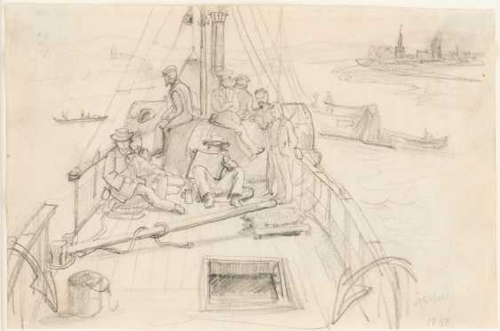 EXCURSION OF THE FRANKFURTER ARTISTS ON A RHINE STEAMER (STUDY) - photo 1