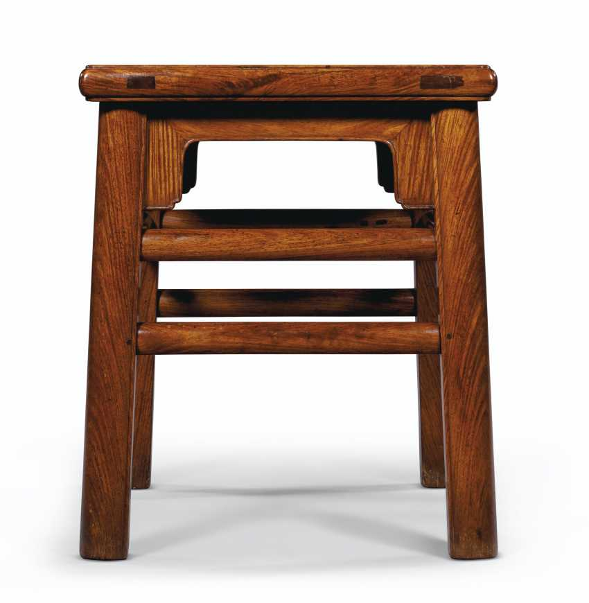 A PAIR OF HUANGHUALI RECTANGULAR STOOLS - photo 2