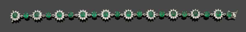 Elegant Emerald And Diamond Bracelet - photo 1