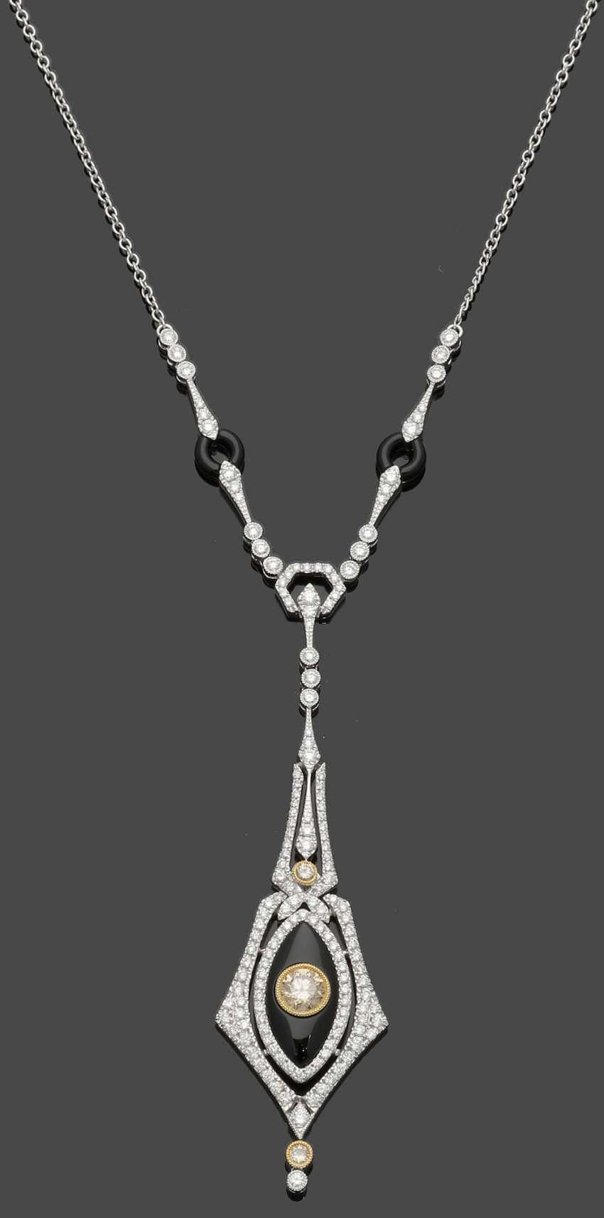 High-Fine Diamond Necklace - photo 1