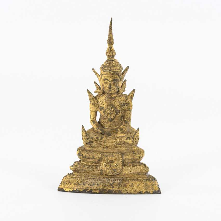 Gilded small Buddha in rattanakosin style - photo 1